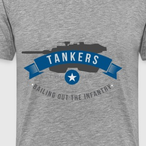 Tankers: Bailing out the Infantry - Men's Premium T-Shirt