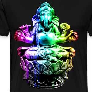 Ganesh in Rainbow Colors - Men's Premium T-Shirt