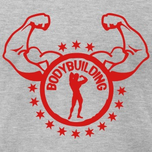 bodybuilding 18 star logo T-Shirts - Men's T-Shirt by American Apparel