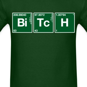 Atomic Symbol Bitch (2) - Men's T-Shirt
