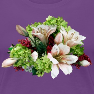 Asiatic Lilies, Hydrangea And Berries T-Shirts - Women's Premium T-Shirt