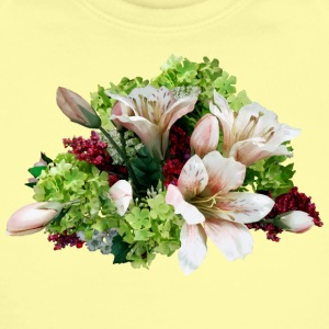 Asiatic Lilies, Hydrangea And Berries Baby Bodysuits - Short Sleeve Baby Bodysuit
