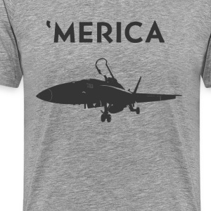 'Merica: Fighter Jet - Men's Premium T-Shirt