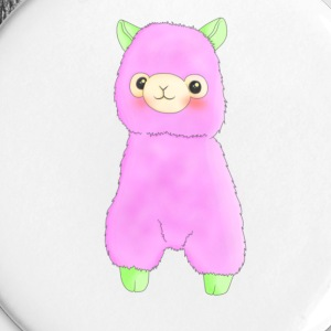 Watermelon Llama Badge - Small Buttons