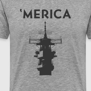 'Merica: Navy - Men's Premium T-Shirt