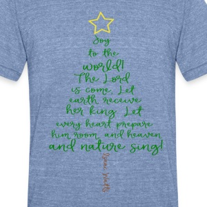 Unisex Joy to the World Tee - Blue - Unisex Tri-Blend T-Shirt by American Apparel