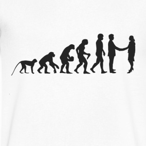 Business Evolution T-Shirts - Men's V-Neck T-Shirt by Canvas