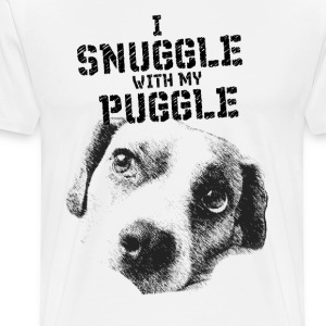 I Snuggle with my Puggle T-Shirts - Men's Premium T-Shirt