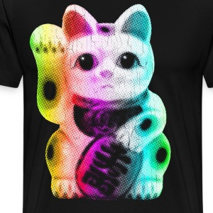 Pop Art Lucky Cat - Maneki Neko - Men's Premium T-Shirt