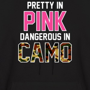 Pretty in Pink Dangerous in Camo - Men's Hoodie