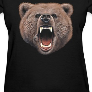 Big In Your Face Grizzly Bear Bite - Women's T-Shirt