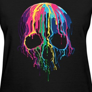Colorful Painted Trippy Gothic Melting - Women's T-Shirt