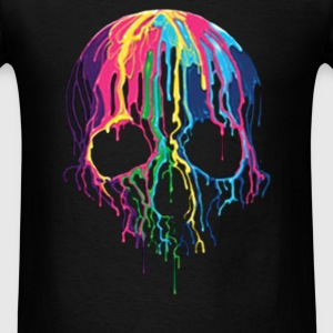 Colorful Painted Trippy Gothic Melting - Men's T-Shirt