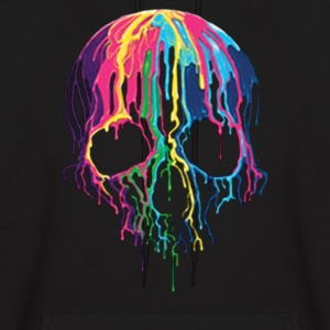 Colorful Painted Trippy Gothic Melting - Men's Hoodie