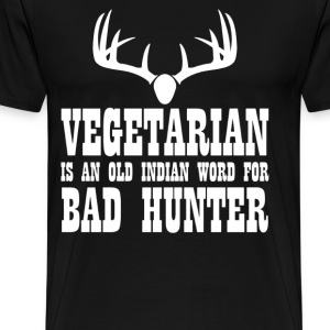 Vegetarian An Old Indian - Men's Premium T-Shirt