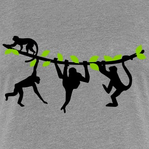 Climbing Monkeys - 2 colors T-Shirts - Women's Premium T-Shirt