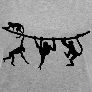 climbing monkeys - monkey T-Shirts - Women´s Roll Cuff T-Shirt