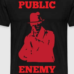 Public Enemy  black t shirt - Men's Premium T-Shirt