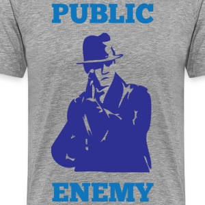 public enemy gray t shirt - Men's Premium T-Shirt
