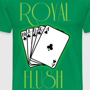 Royal flush green t shirt - Men's Premium T-Shirt