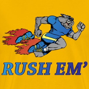 Rush Em yellow t shirt - Men's Premium T-Shirt