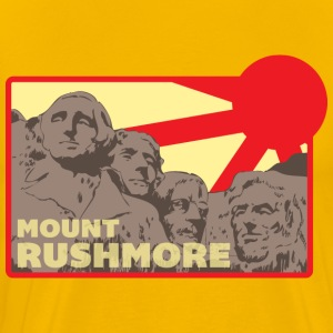 Mount Rushmore yellow t shirt - Men's Premium T-Shirt