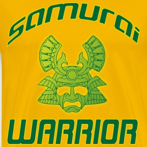 Samurai Warrior yellow tshirt - Men's Premium T-Shirt