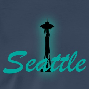 seattle steel blue t shirt 2 - Men's Premium T-Shirt