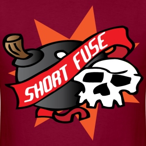 Short Fuse burgundy t shirt - Men's T-Shirt