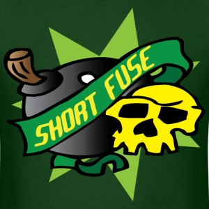 short fuse dark green t shirt - Men's T-Shirt