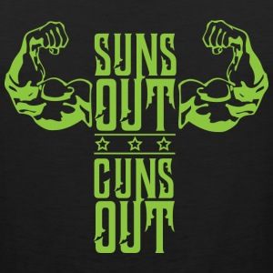 Suns out arms black muscle shirt - Men's Premium Tank