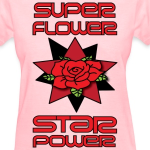 super flower star power pink women's t shirt - Women's T-Shirt