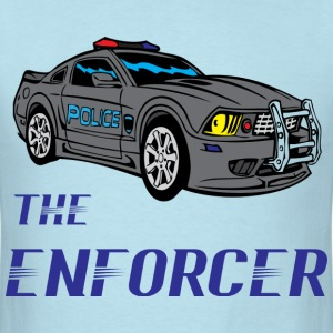 the enforcer light blue t shirt - Men's T-Shirt