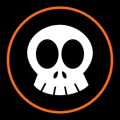 SkullSpace Logo - Orange