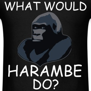 What Would Harambe Do? T-Shirt (White) - Men's T-Shirt