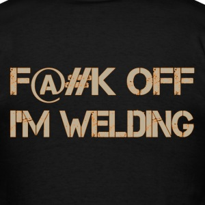 Fuck Off Tan-Orange T-Shirts - Men's T-Shirt