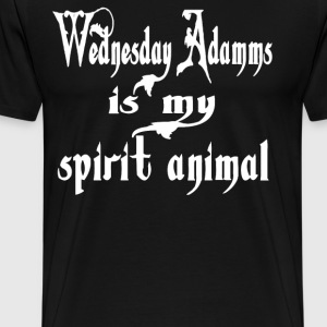 Wednesday Addams Is My Spirit Animal T-Shirts - Men's Premium T-Shirt