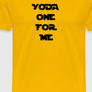 Yoda One For Me T-Shirts - Men's Premium T-Shirt