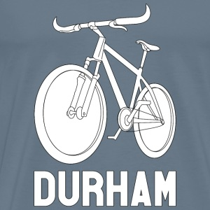 Men's Bike Durham Premium Tee (White Logo) - Men's Premium T-Shirt
