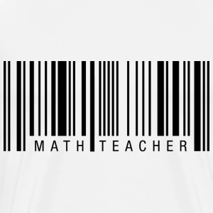 Math Teacher Barcode T-Shirts - Men's Premium T-Shirt