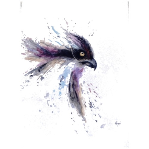 Watercolour Raven