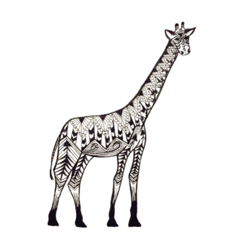 Zentangle Giraffe