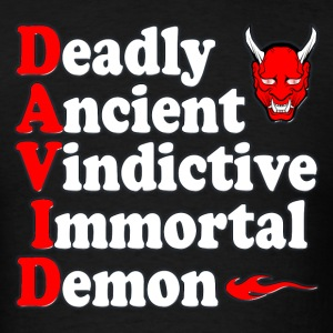 David Deadly Demon - Men's T-Shirt