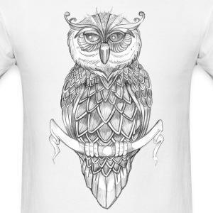 Owl Illustration T-Shirts - Men's T-Shirt
