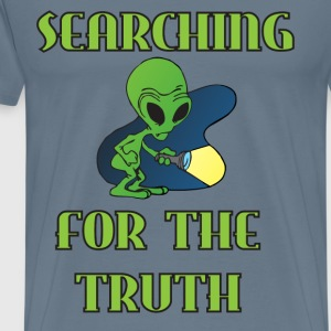 Searching For The Truth blue steel t shirt - Men's Premium T-Shirt