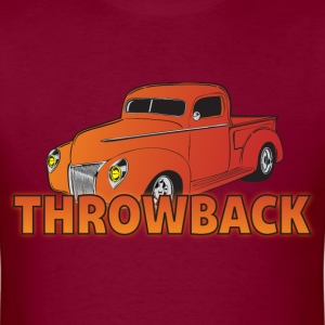 Throwback maroon t shirt - Men's T-Shirt