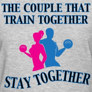 The Couple That Train Together Women's gray tshirt - Women's T-Shirt