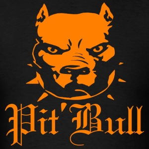 Orange Pit Bull - Men's T-Shirt