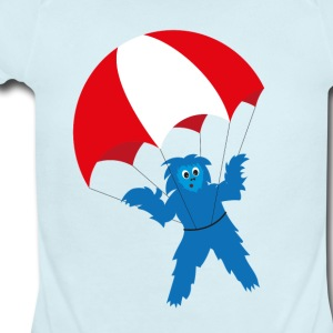 Flying little monster - Short Sleeve Baby Bodysuit