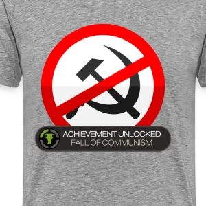 Fall of Communism Achievement Unlocked T-Shirts - Men's Premium T-Shirt
